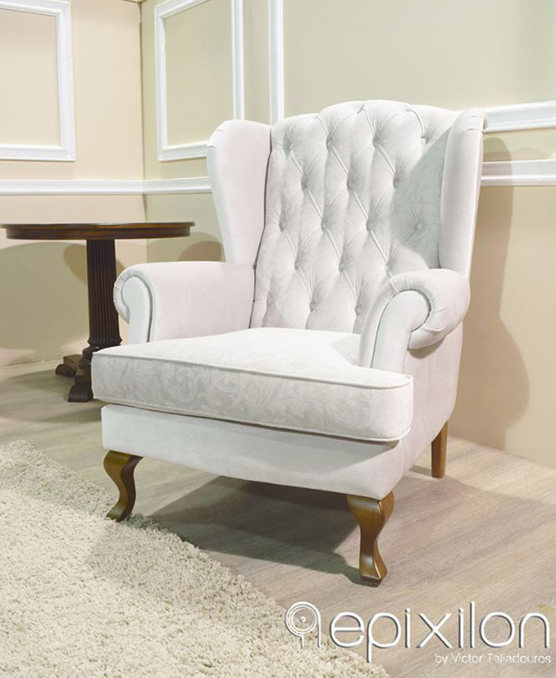 Neoclassical Lounge Chair Classic Lux