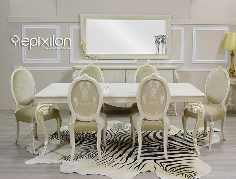 Neoclassical Dining Table Set Aurora