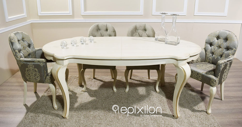Medium image of neoclassical dining table anais