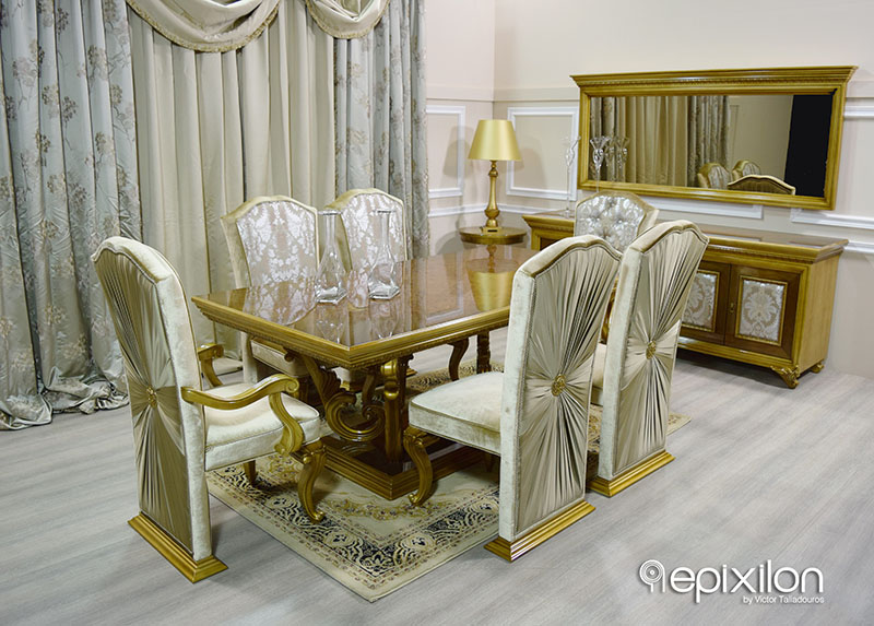 epixilon Neoclassical Furniture gt Furniture gt Dining  : epiplo neoklasiki trapezaria versace epixilon2 from epixilon.com size 800 x 573 jpeg 460kB